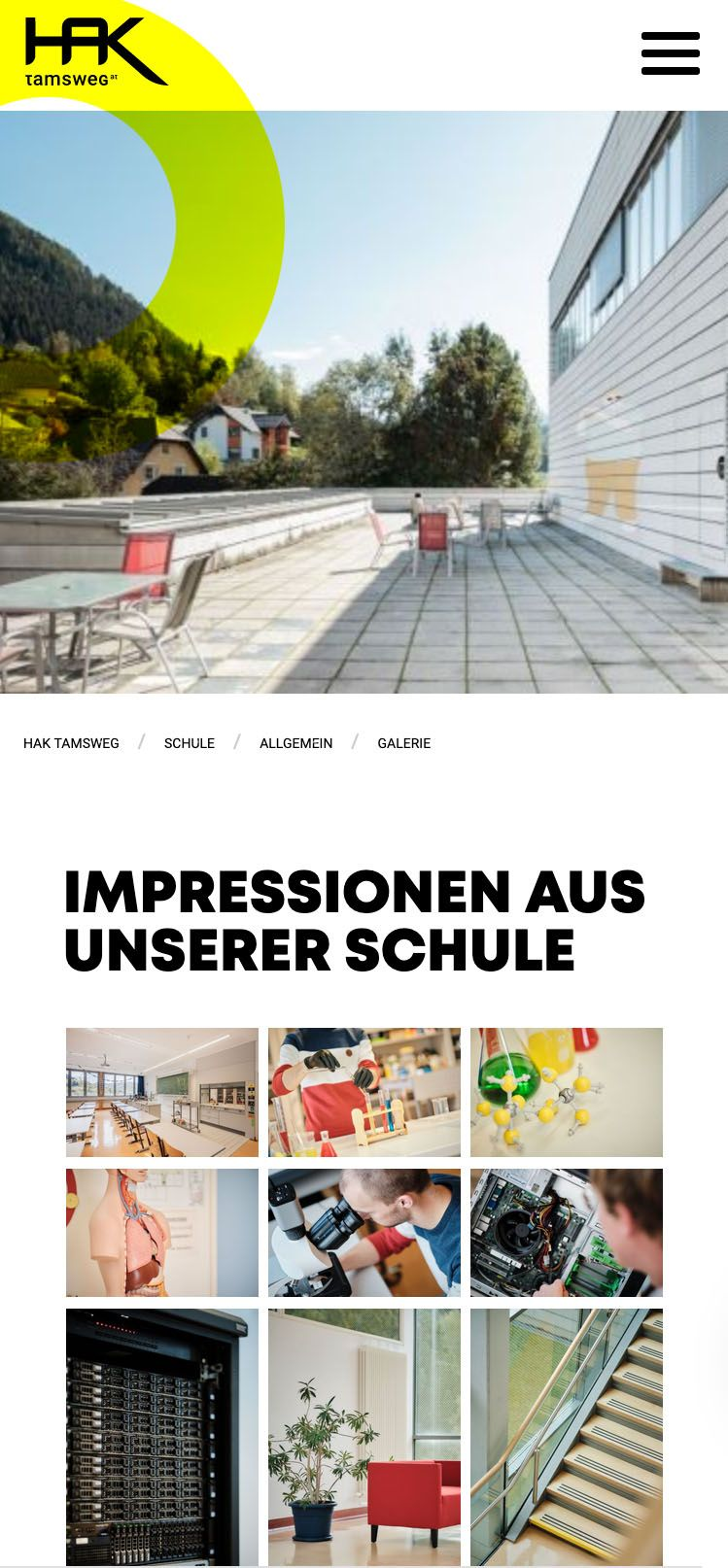 Relaunch der HAK Tamsweg / Website by KWER